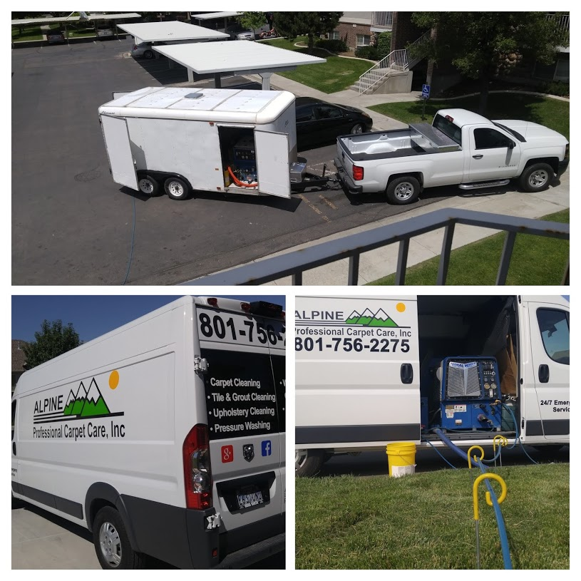 THIS IS OUR CARPET CLEANING VAN AND OUR CARPET CLEANING TRAILER