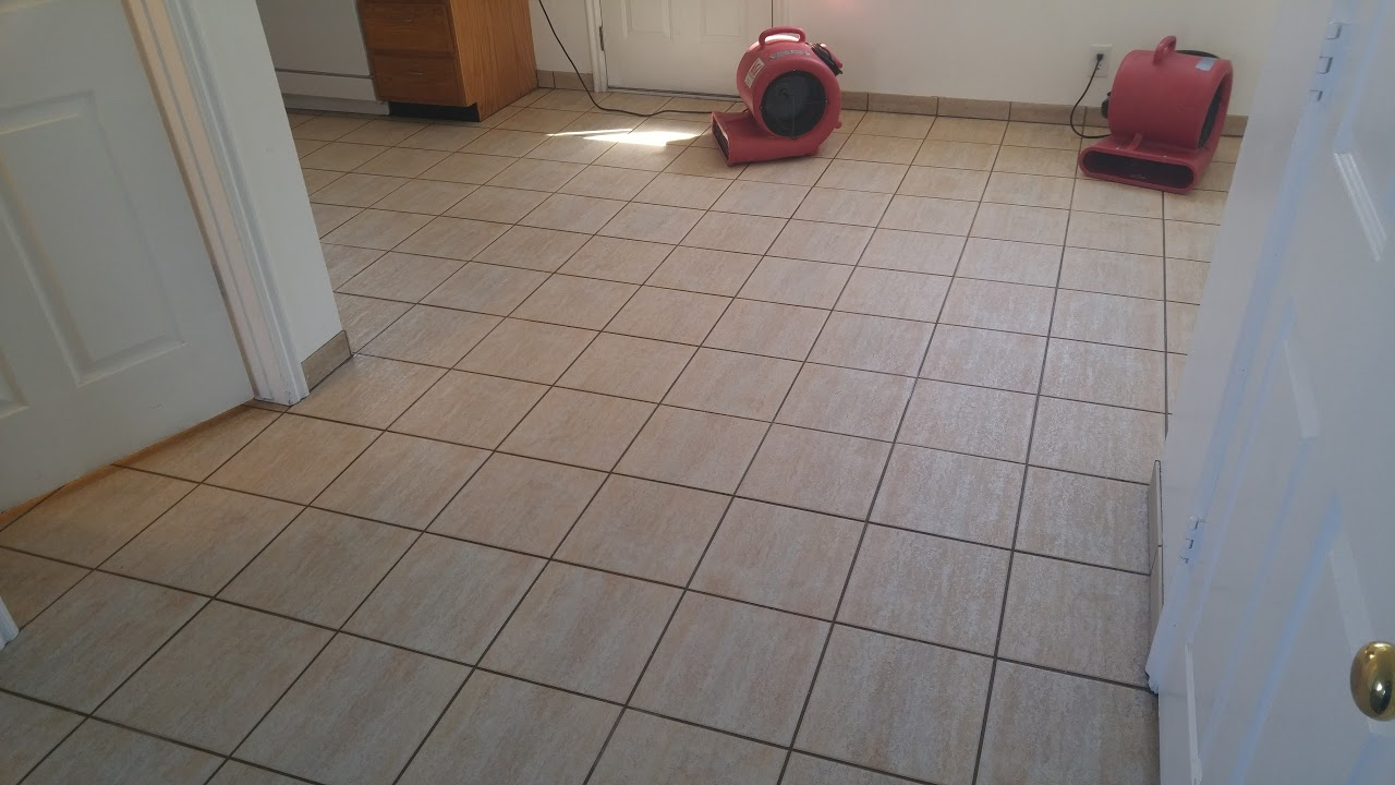 It is really important to dry the tile so you can inspect the tile and grout when it is dry