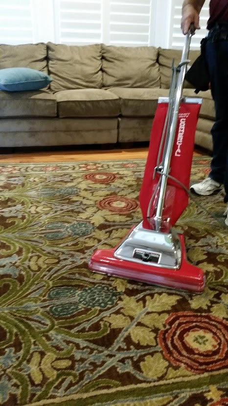 Using a vacuum is great for getting dry soil out of the carpet