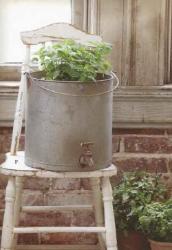 Galvanized Pail for Planter
