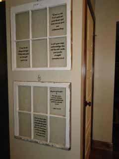 Old windows with favorite scriptures painted on panes.jpg