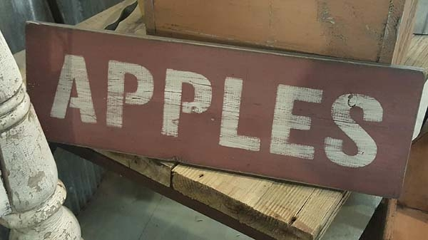 Fall Decorating with Vintage Style Signs