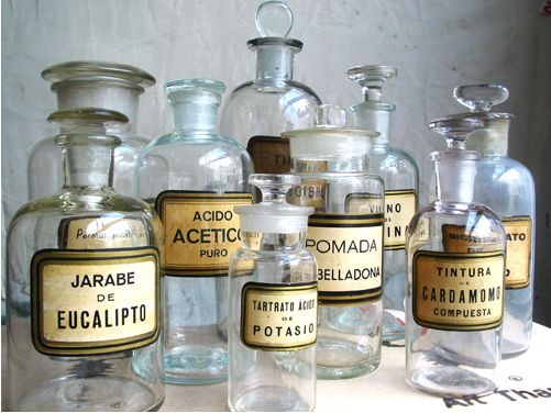Antique Apothecary Pharmacy Bottles