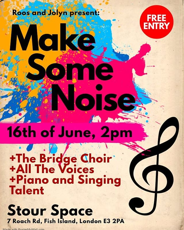 Will be here today, performing with a bunch of talented singers. You are welcome.  #popchoir #ME #thebridgechoir