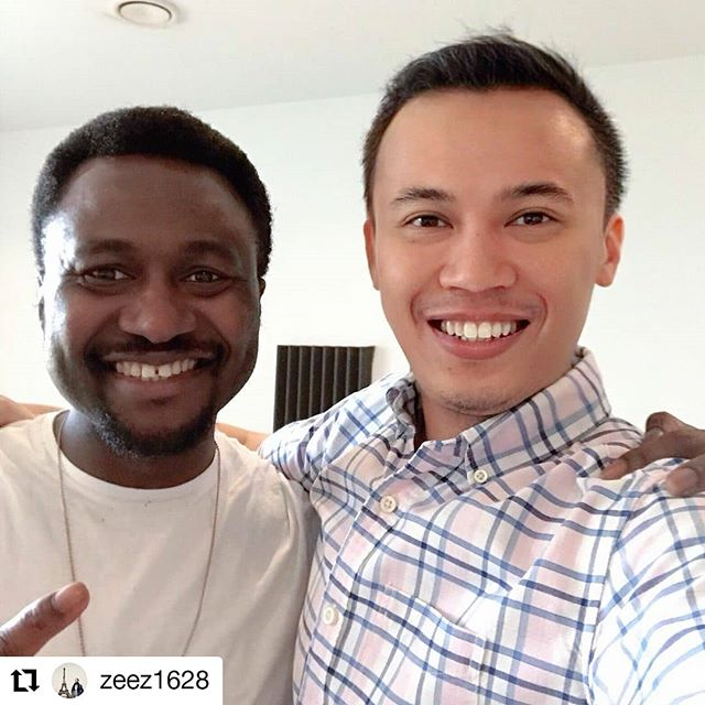 It's been a while since my last release. Its time to hit the studio again. Next single loading... @zeez1628 Lets do this!  #Repost @zeez1628 • • • • • • Thank you for coming to Cambridge and trusting me working on your next single @michaelekeghasi from the voice Finland. I enjoy the production session, idea sharing and listening to your inspiring story. I hope all the best for the project and wish that it will open a lot of opportunities for both of us, Cheers!🍻