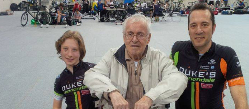 Three generations of Froner at the Provincial Track Championships. The Past, Present and Future.