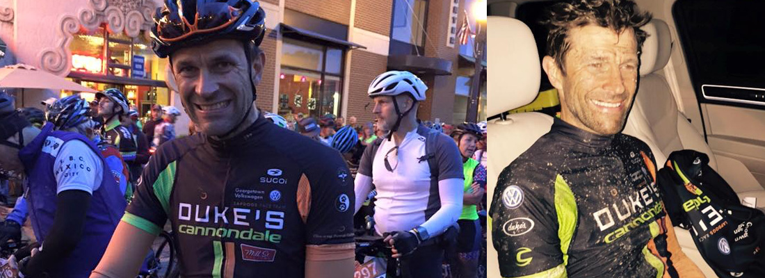 Jouko about to begin a big day in the saddle... and then just over 15 hours and 200 miles later looking no worst for wear.