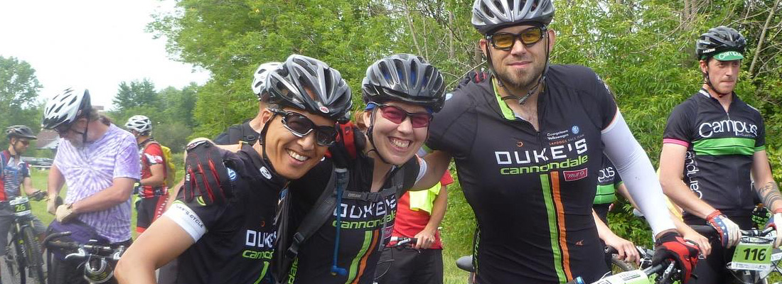 Derrick, Andrea and Miro... all smiles, prior to a little 6 hours of fun