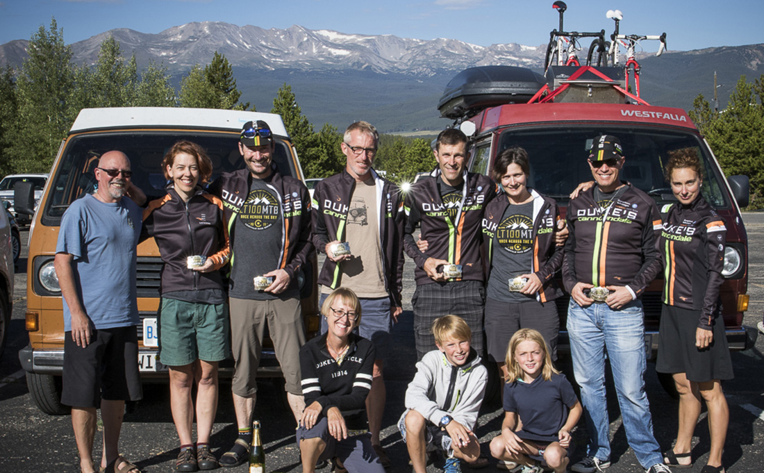 Our entire Leadville Team and Support Crew. An amazing experience for all. (Thanks to Peter Kraiker for the photo)