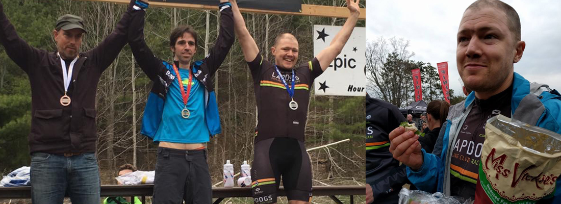 """Gus Ryan was this year's """"Come Back Kid."""" Back on the podium in the Solo Single Speed category."""