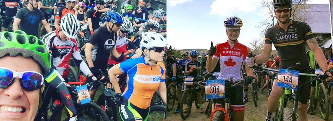 The Epic 8 attracts an amazing collection of riders... from local characters and weekend warriors to Pro Cycling Royalty. On the left, Barry Cox, and on the far right, Emily Batty and Mark Brusso.
