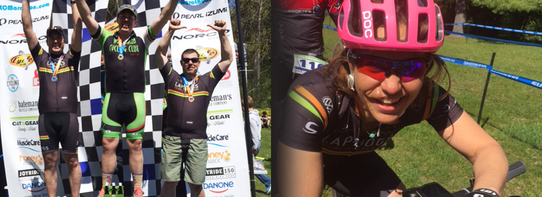Paul and Chris, pull in some richly deserved hardware. Lenka, ever smiling after a hard fought battle for 6th in the Women's MTB 70k Marathon.