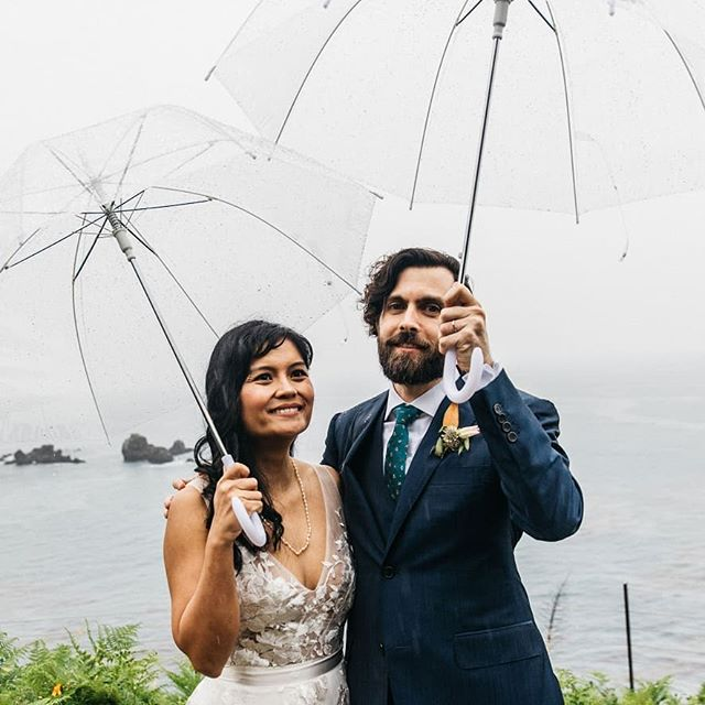 Mark and I got married a month ago. We were surrounded by so much warmth and joy from family and friends that rain couldn't dampen the beauty, fun, or happiness of the day. We are lucky in many ways. I love him very much. 📷: @bassosweddings