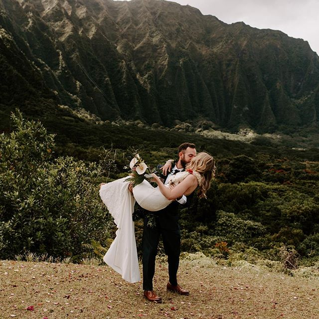 I've gone a million times back and forth between all the sweet, tear-jerking and happy photos I've been meaning to post for Jill and Rick but I just couldn't decide on one and they've been so patiently waiting. So finally here's one of my favorites because who wouldn't want to be swept off their feet on the top of a Hawaiian mountain. If there's two people deserving it more than anyone, it's these two kind, beautiful people.🌿 . . . . . #sandiegoweddingphotographer #momentsoverposes #oahuwedding #hiweddings #wedhawaii #luckywelivehawaii #hawaiiwedding #hawaiiweddingphotographer #thatsdarling . #oahuweddingphotographer #oahuwedding #hiweddings #wedhawaii #luckywelivehawaii #sandiegoweddingphotographer #sandiegowedding #sandiegobride #momentsoverposes #momentsovermountains #teethsoclean . #oahuwedding #oahuweddings #hawaiiwedding #hawaiiweddingphotographer #sandiegoweddings #sandiegoweddingphotographer #wedhawaii #belovedstories #loveandwildhearts #bohobride #tropicalwedding #junebugweddings #goldenlovestories #loveintentionally #luckywelivehawaii #authenticlovemag #momentsoverposes #momentsovermountains #vscohawaii #thehappynow