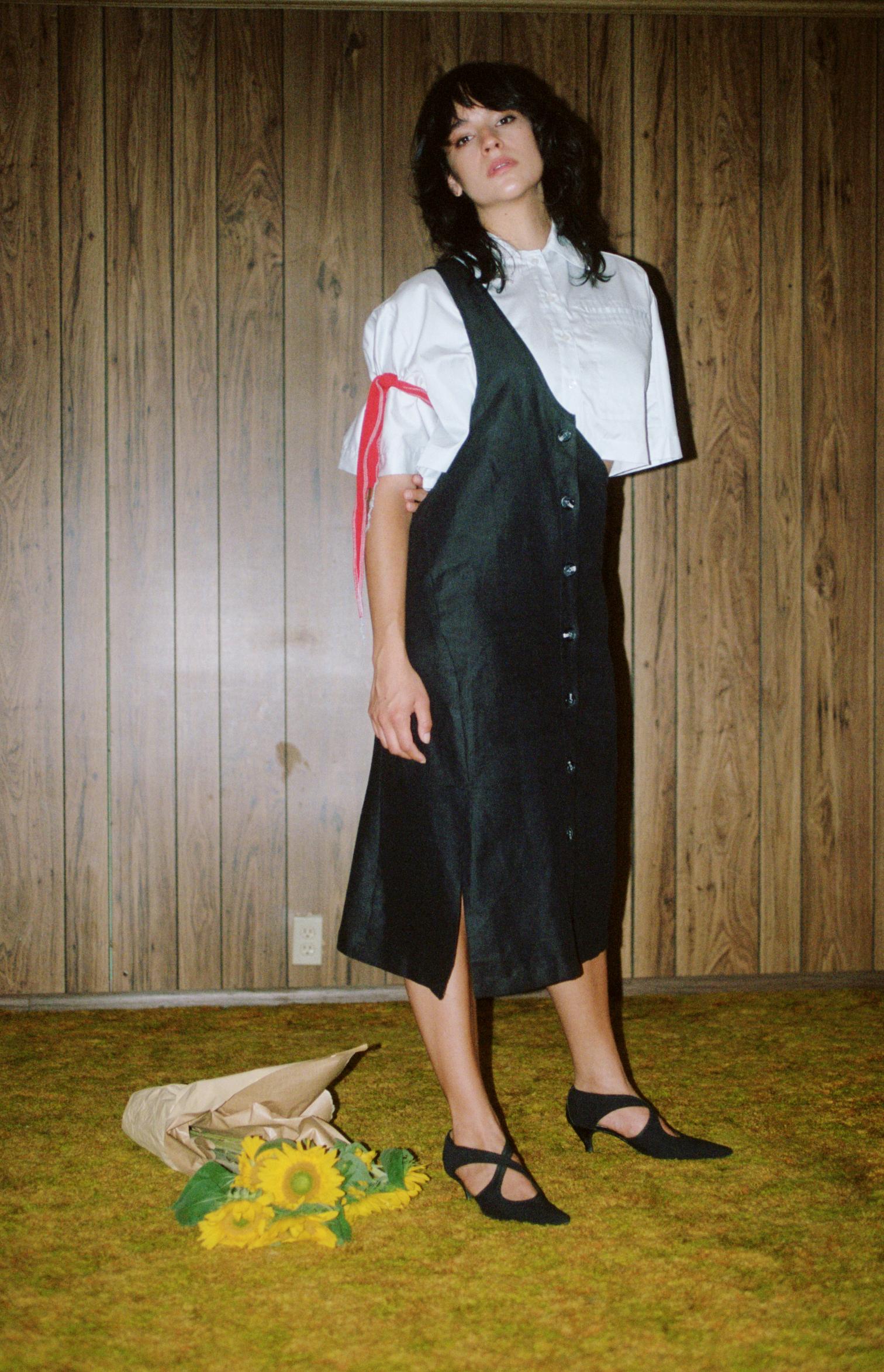 film blue shirt one shoulder skirt 2.jpg