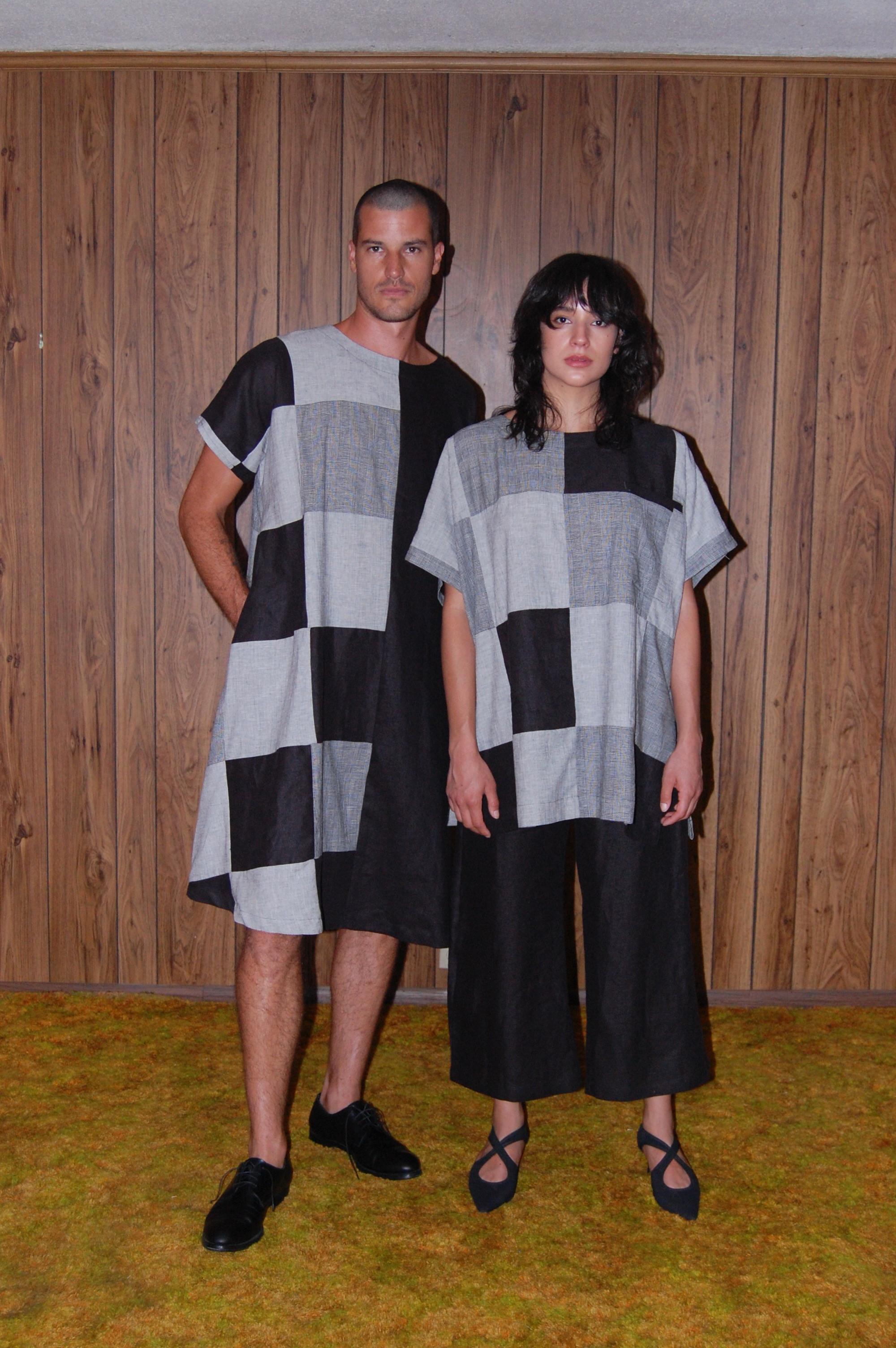 patch tent, patch shirt, black pant both models.JPG