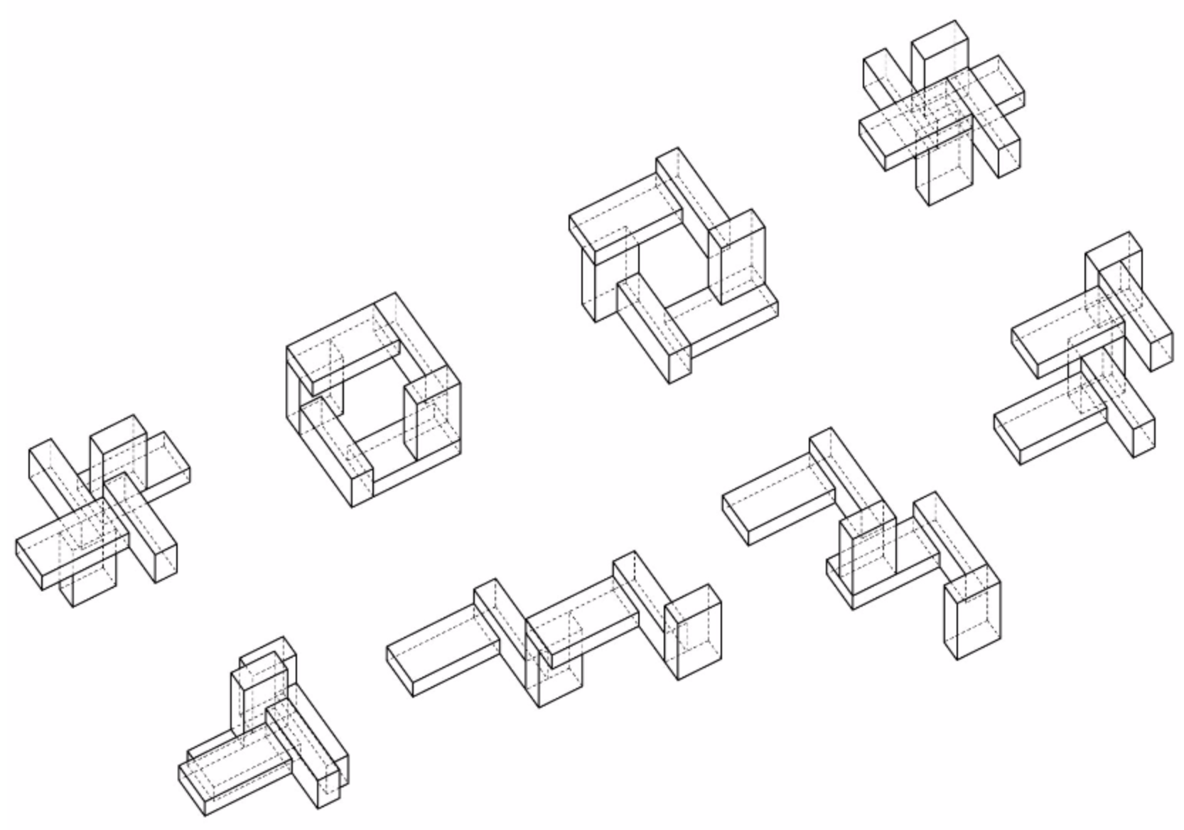 Eight variations of one spatial relationship from  GRAPE .