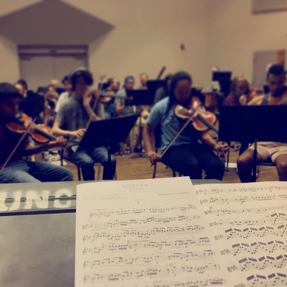 University of Northern Colorado Symphony Orchestra in rehearsal.