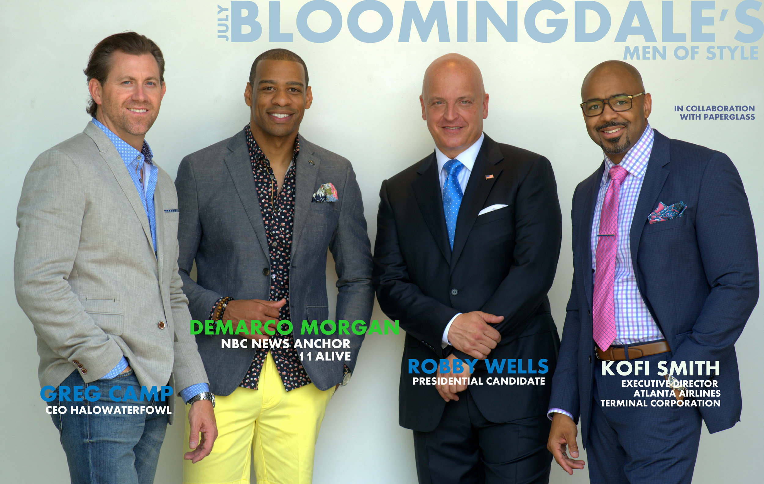 THE SECOND DELIVERY OF BLOOMINGDALE'S MEN OF STYLE WITH GREG CAMP, DEMARCO MORGAN, ROBBY WELLS, & KOFI SMITH