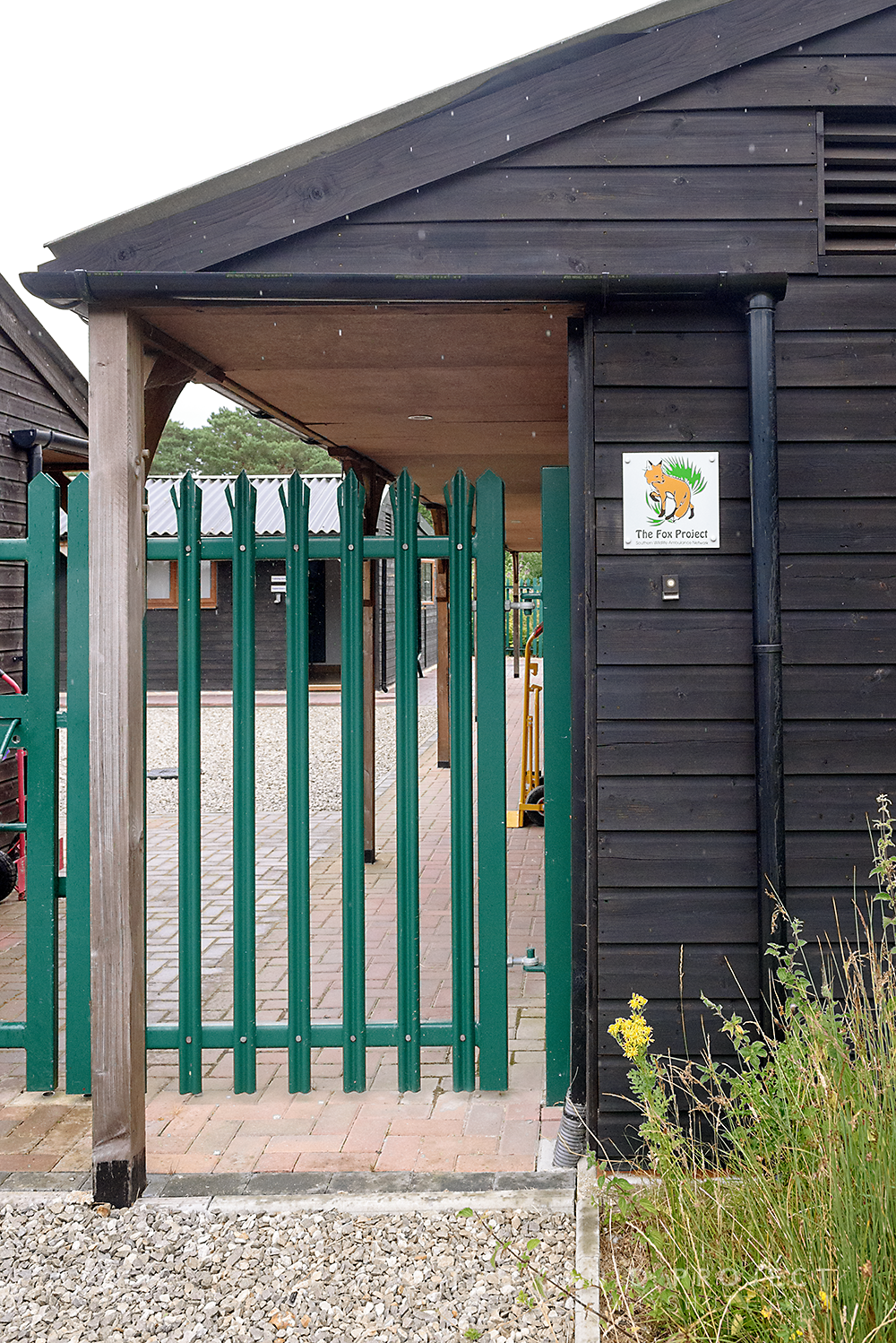The entrance to The Fox Project at Broadwater Animal Hospital