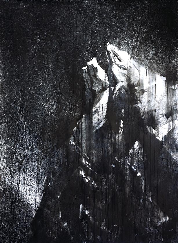 """67P VIII. Claudia Alexander Gate"" watermedia on paper. 70""x52"" (178x132 cm). 2015"