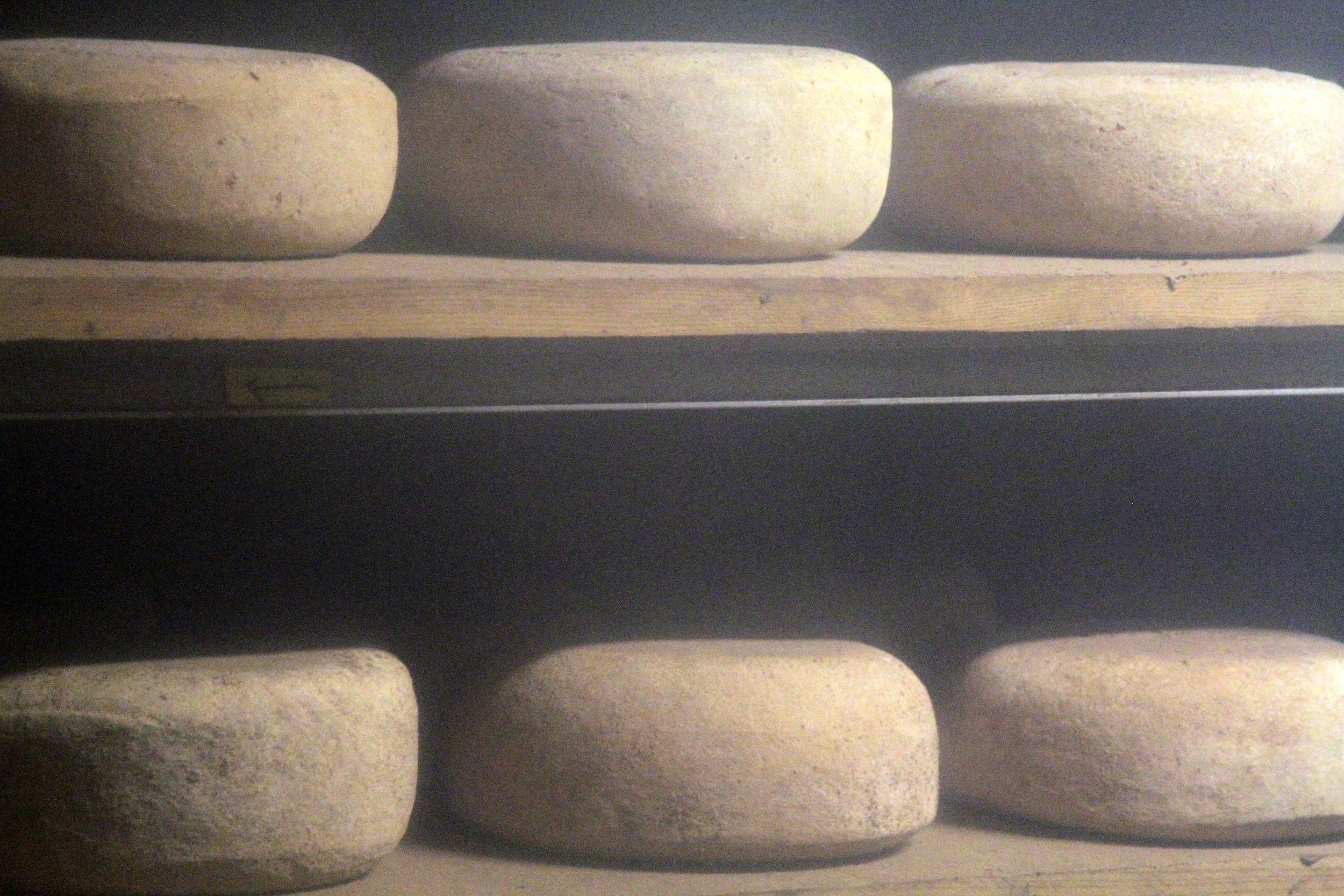 Cheese aging in Valley Shepherd's cheesecave. Take the tour and you'll see this too!