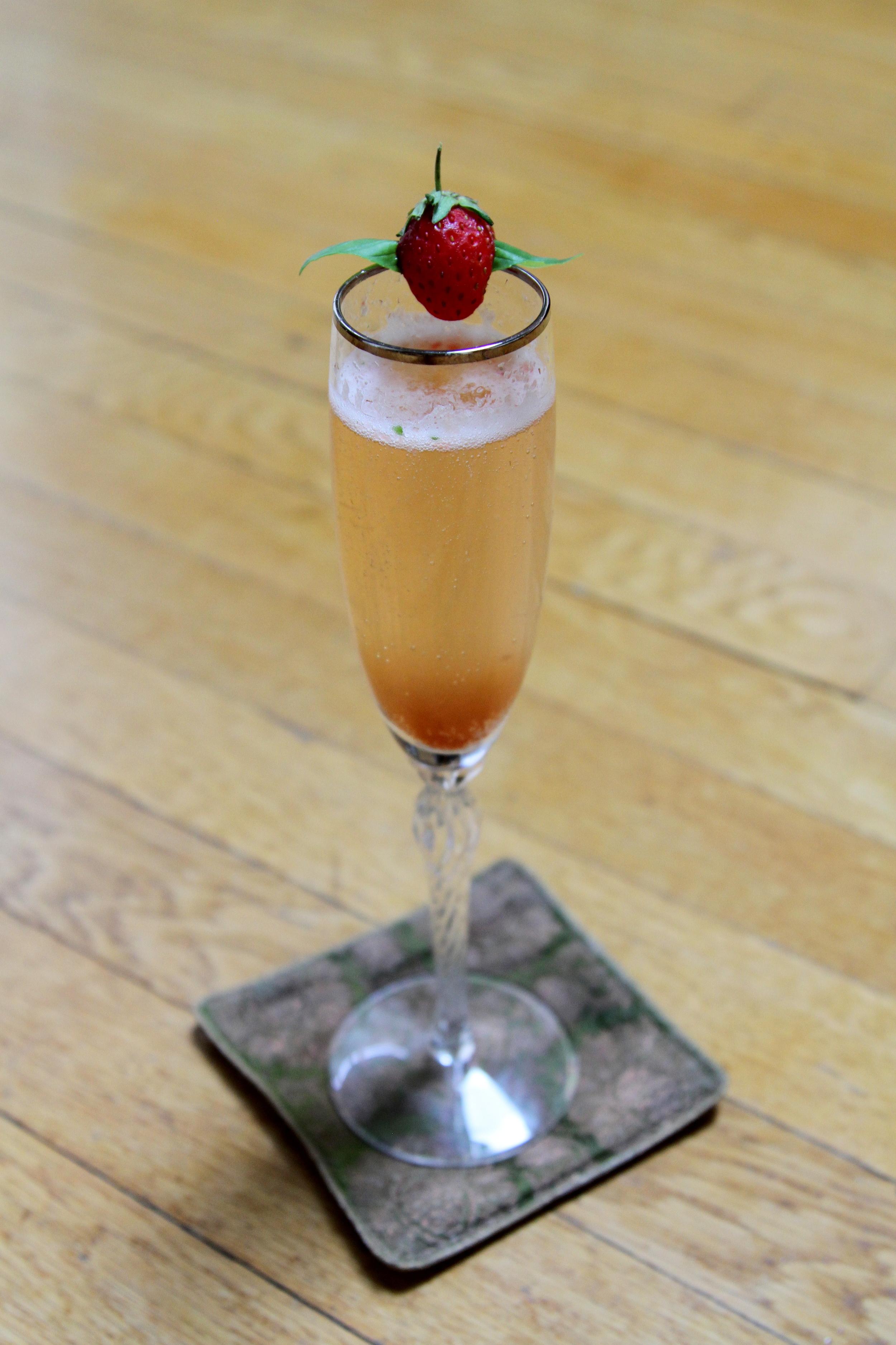 Strawberry, Rhubarb & Basil Prosecco