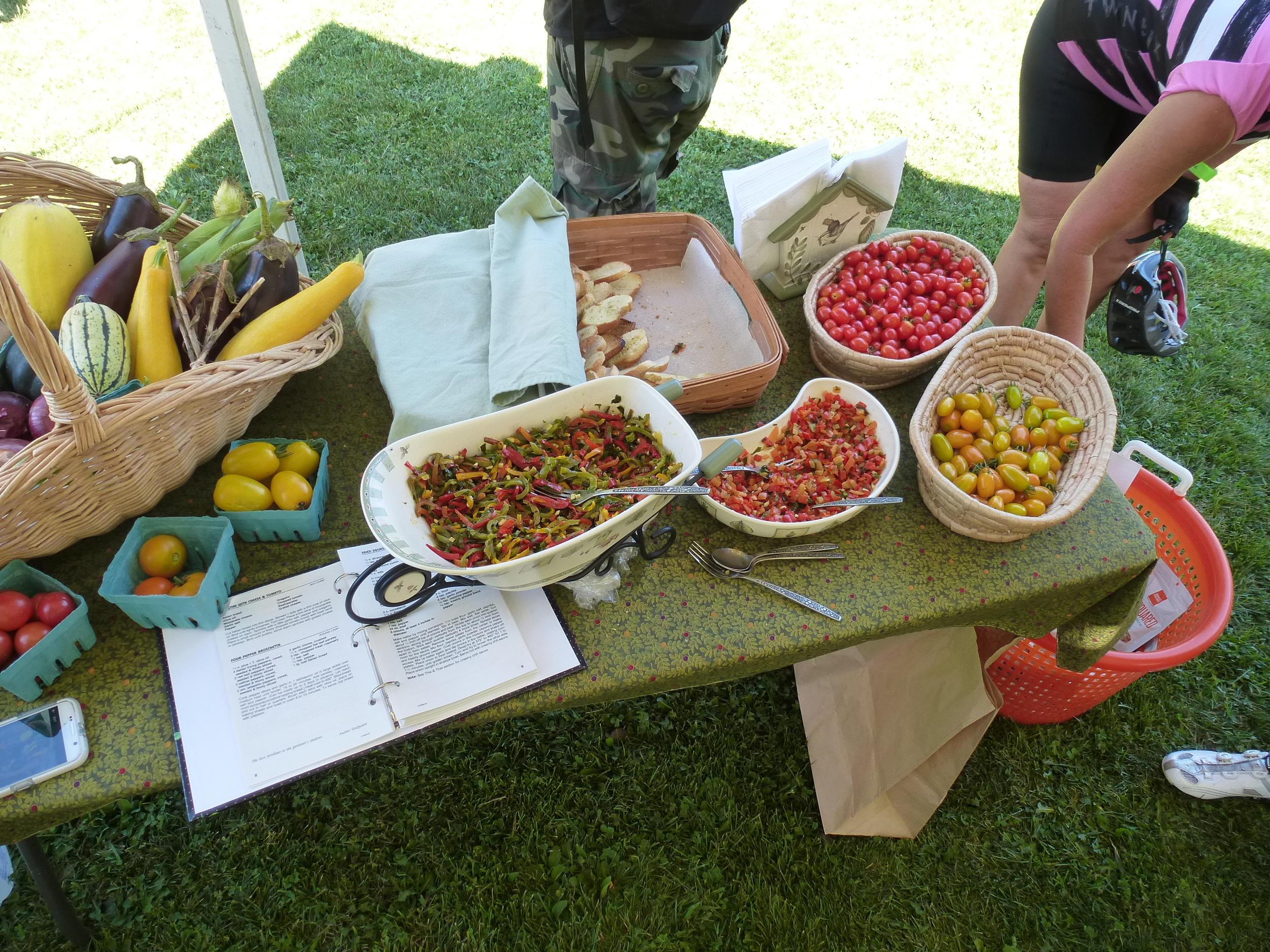 Delicious Bruschetta - A Pepper and a Tomato version (See the Recipes below) (Willow Brook)