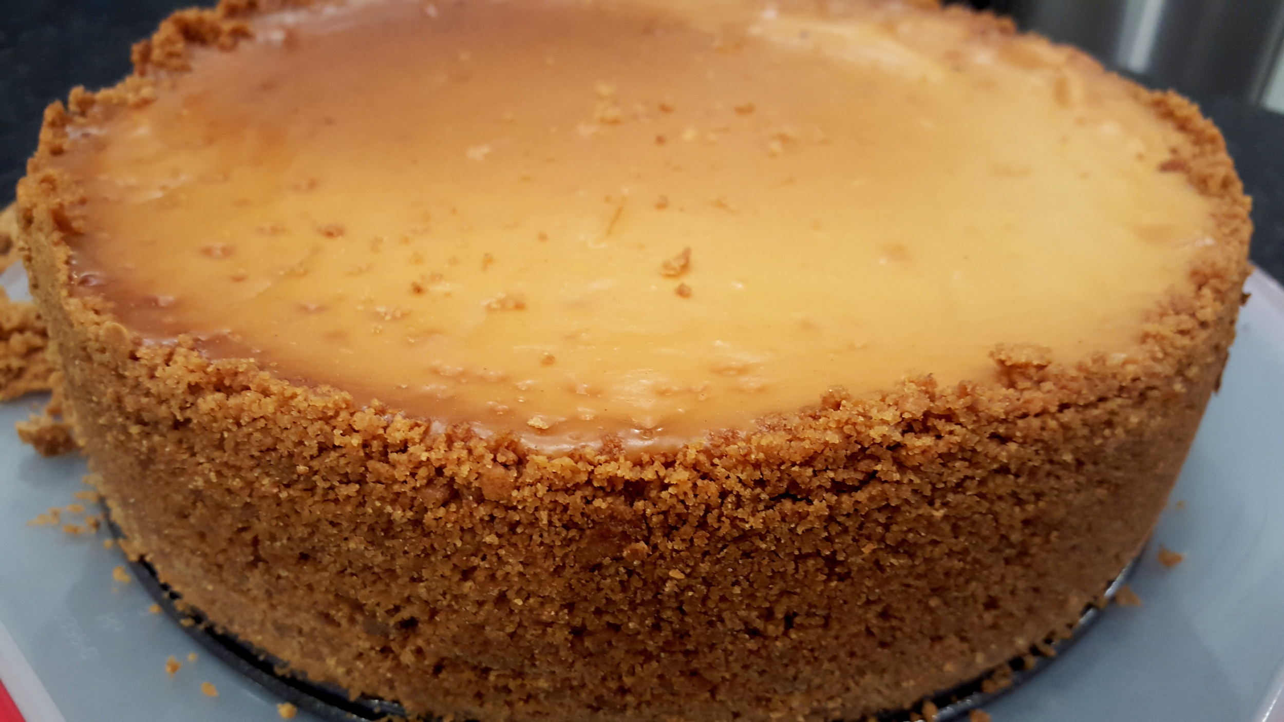 The finished cheesecake