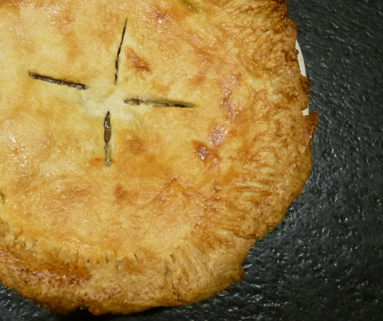 Forgive my poor pie-crust pinching skills...