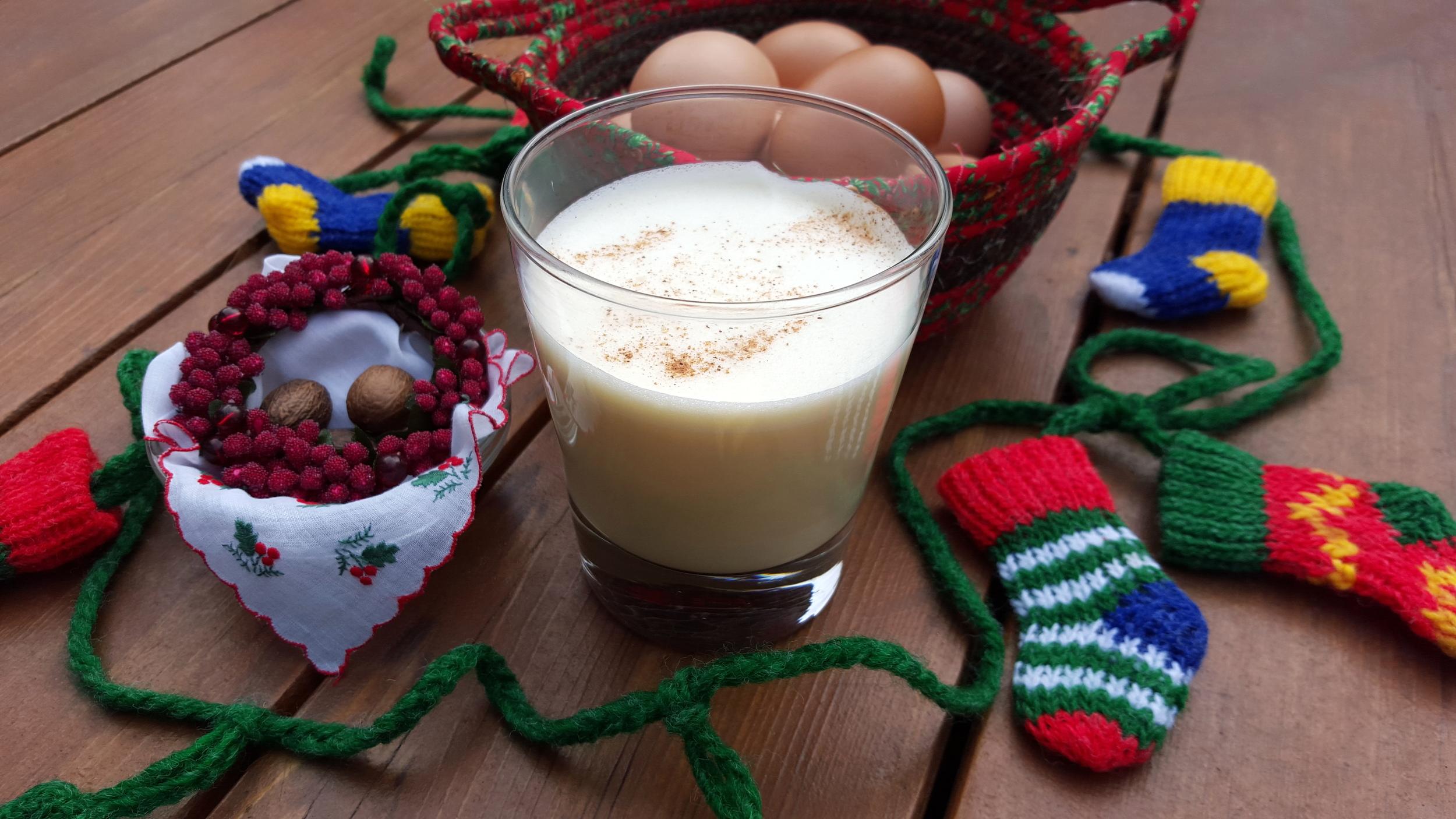 Simple ingredients - eggs, dairy, sugar and a hit of nutmeg