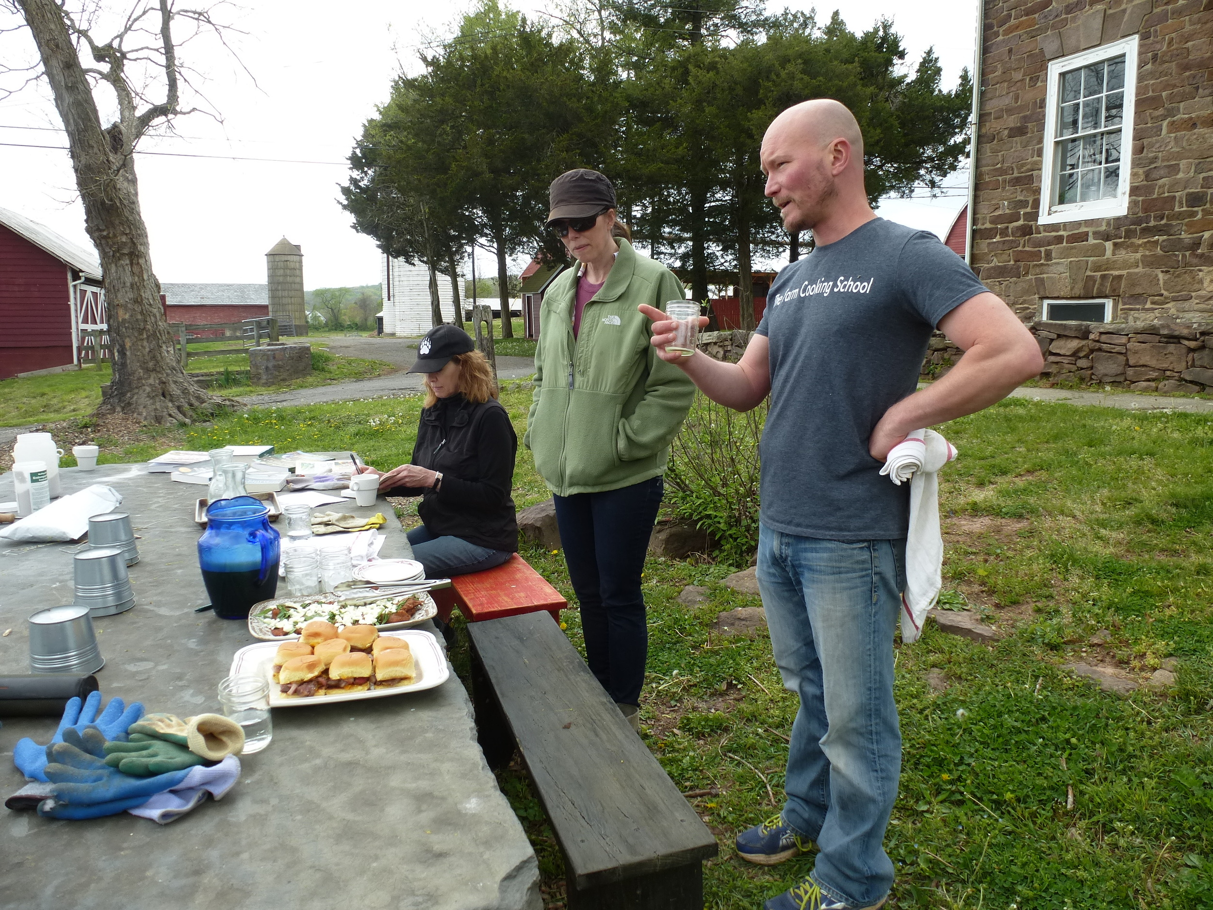 We thoroughly enjoyed the delicious snack break with Ian Knauer.