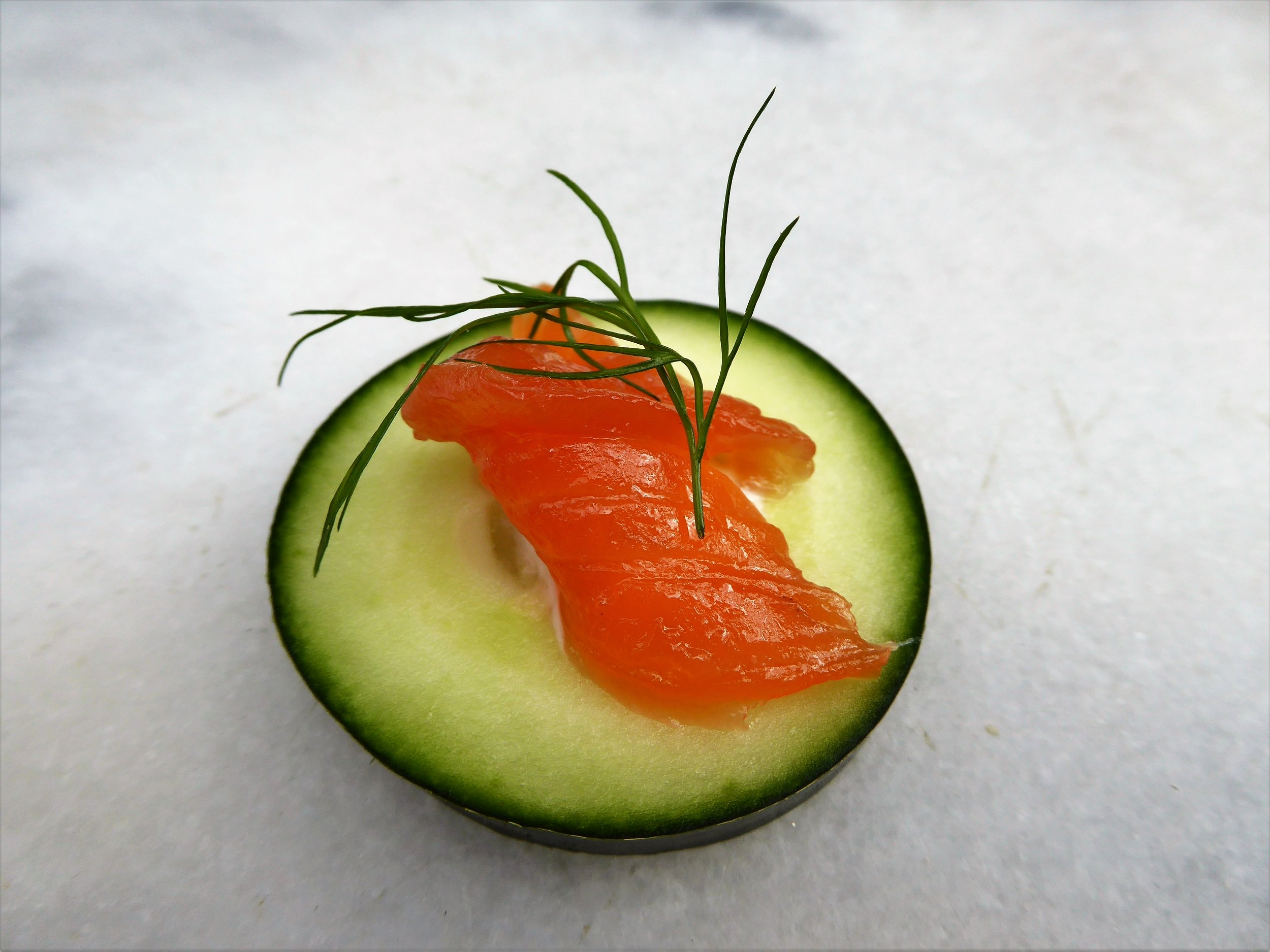 Refreshing cucumber is a great pairing for gravlax