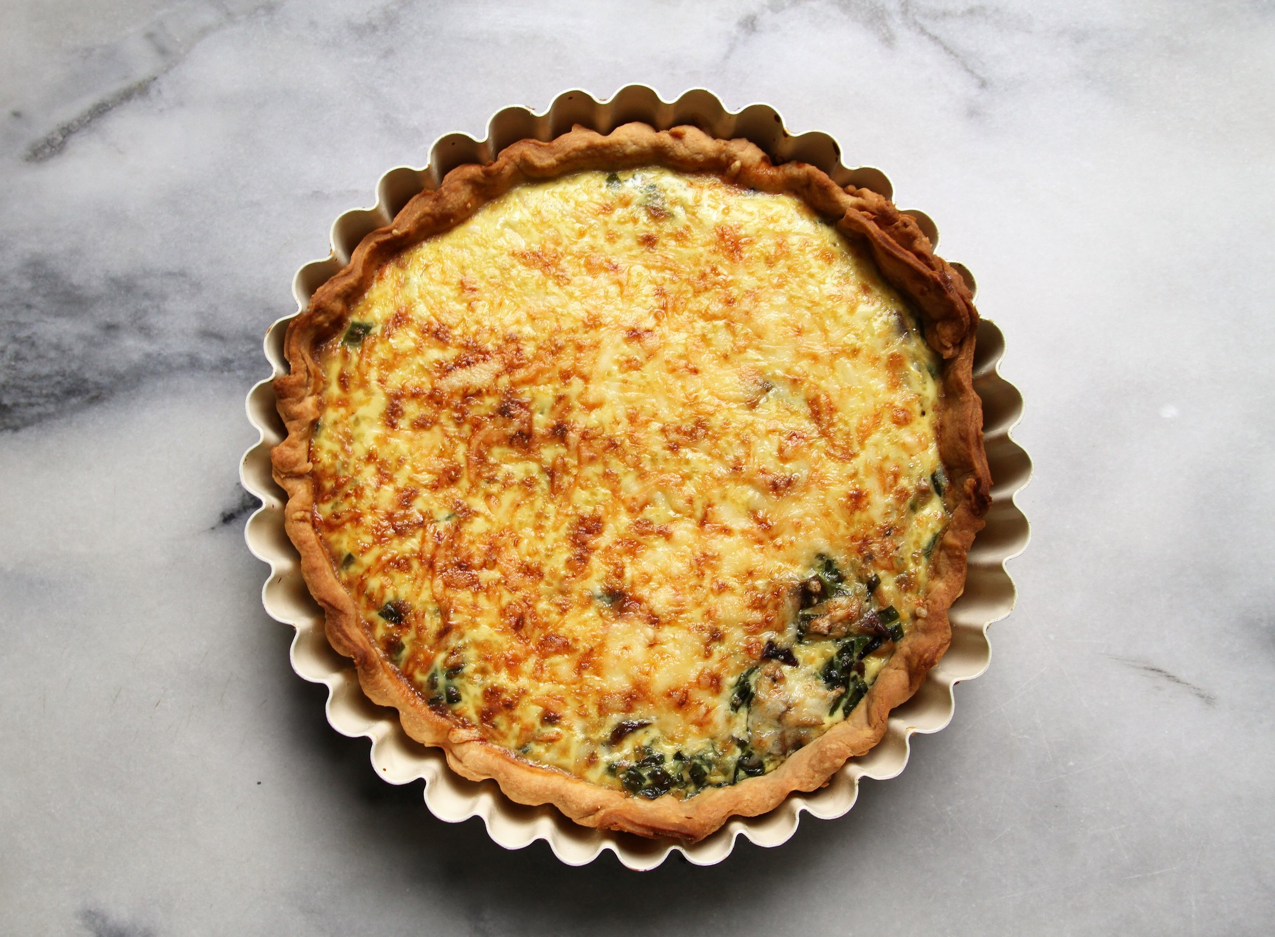 Ramp and Mushroom Quiche