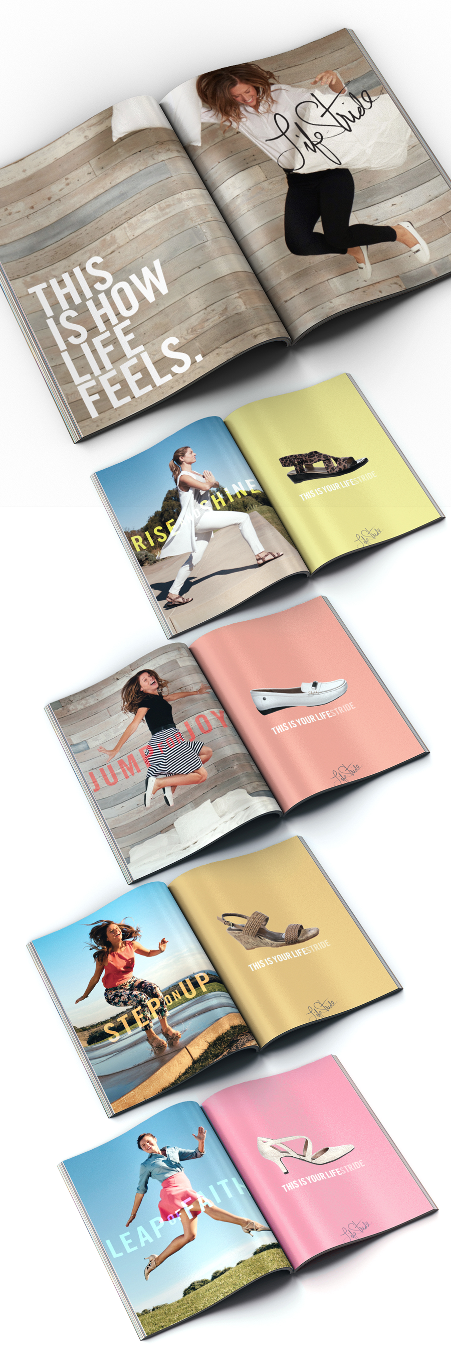 Spring 2016 campaign concepts focused on the authentic, active woman. Ad layouts conceptual. Photography:  Tuan Lee