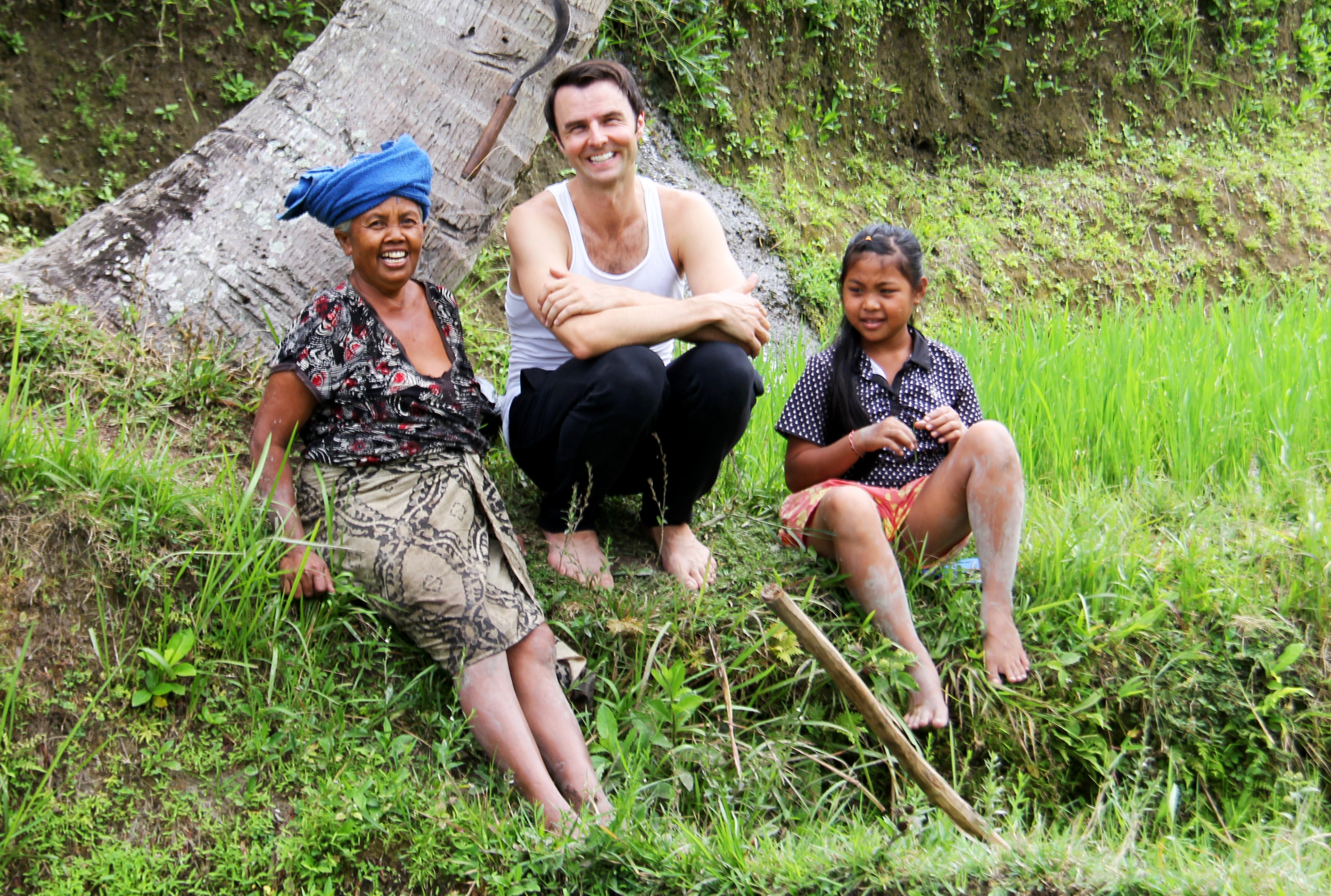 Rice Fields with Little Girl & Old Woman.jpg
