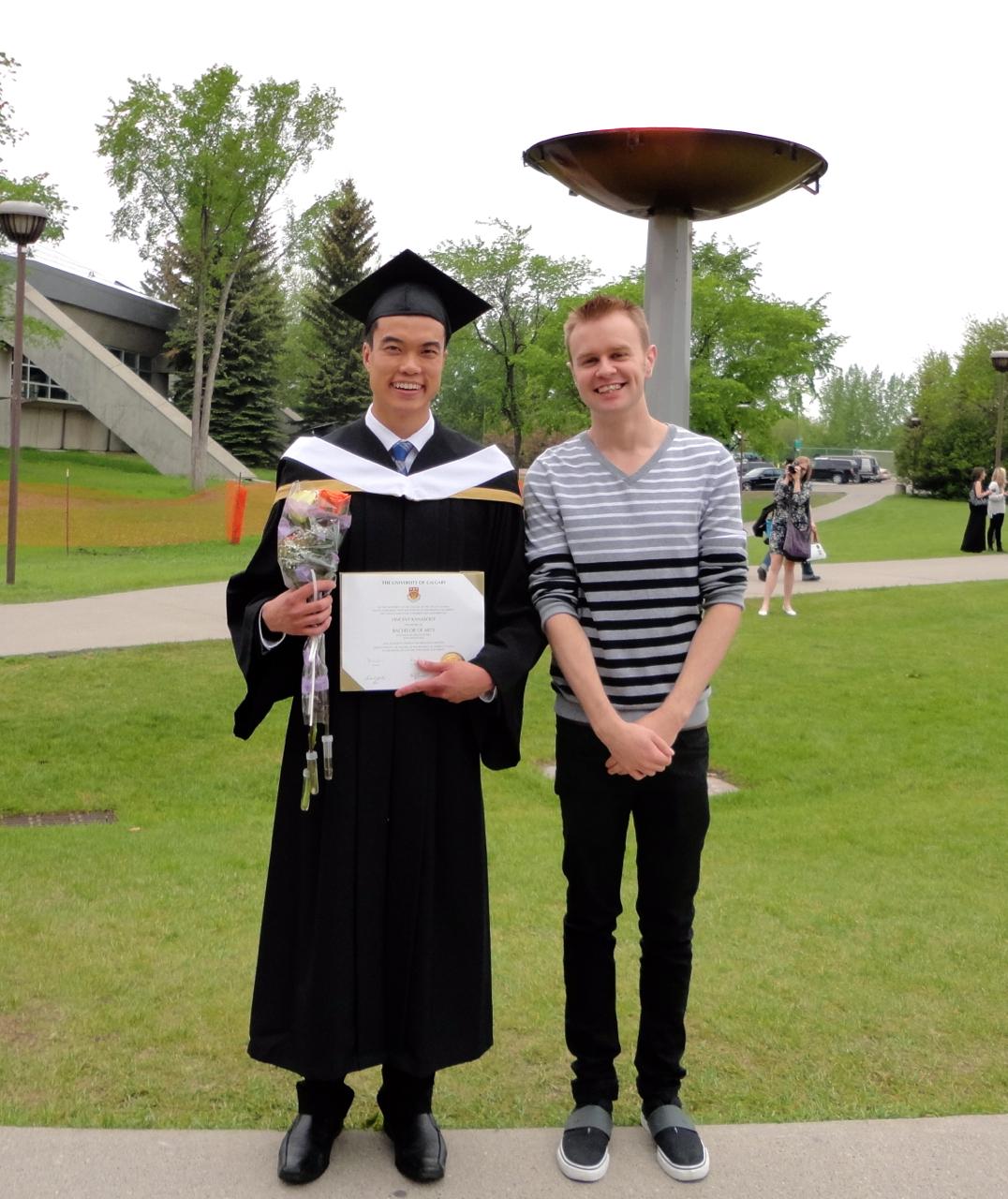 Vince and Justin at Grad
