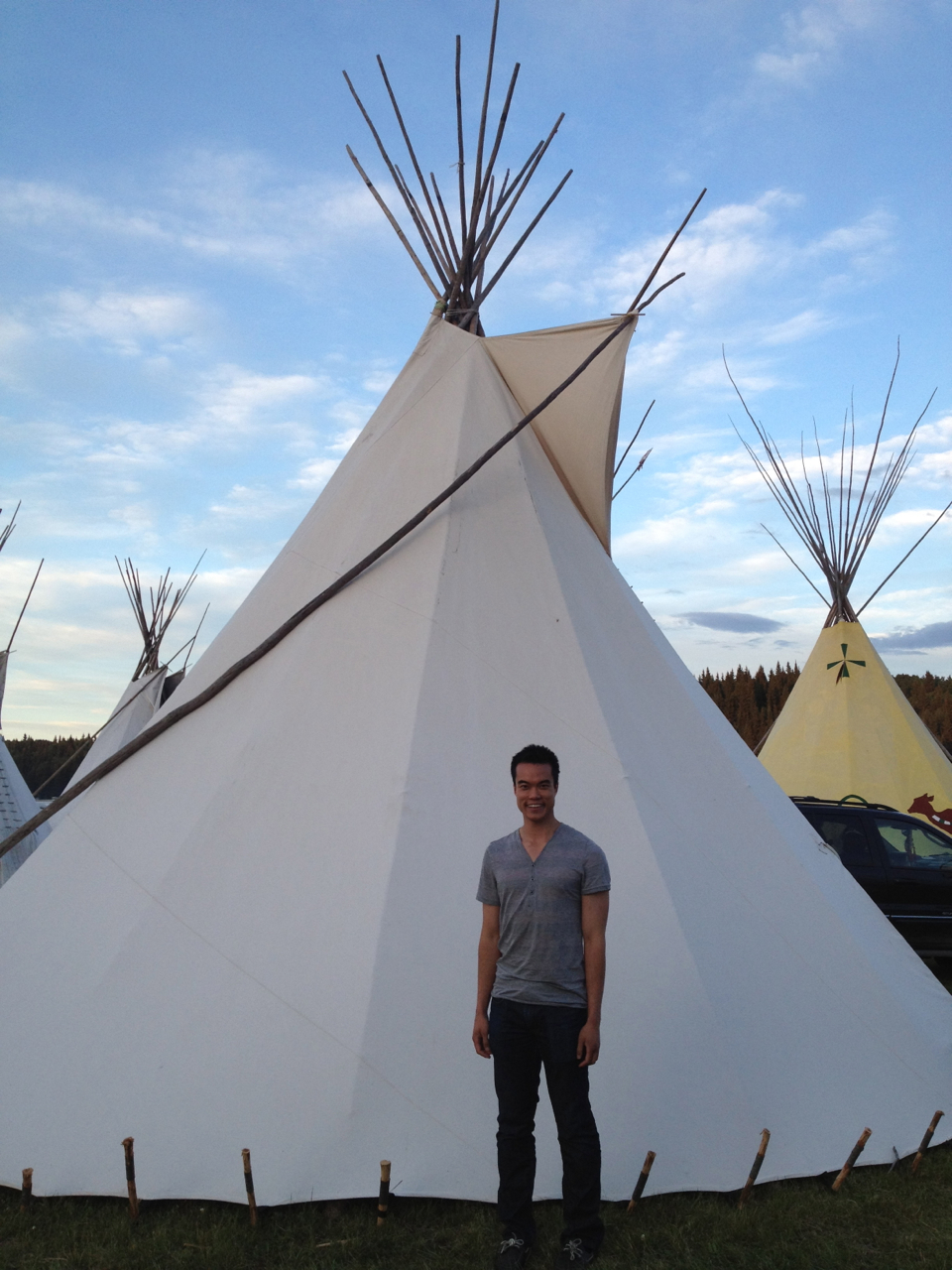 Vince at the Powow