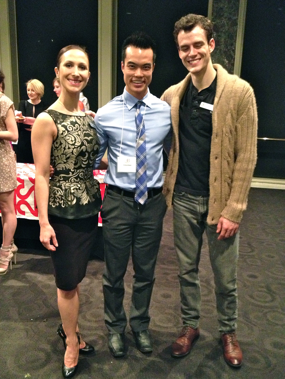 I had the pleasure of meeting principal dancers, Hayna Gutierrez and Garrett Goat. From left to right, Hayna, myself and Garrett. Photo by Vince Kanasoot.
