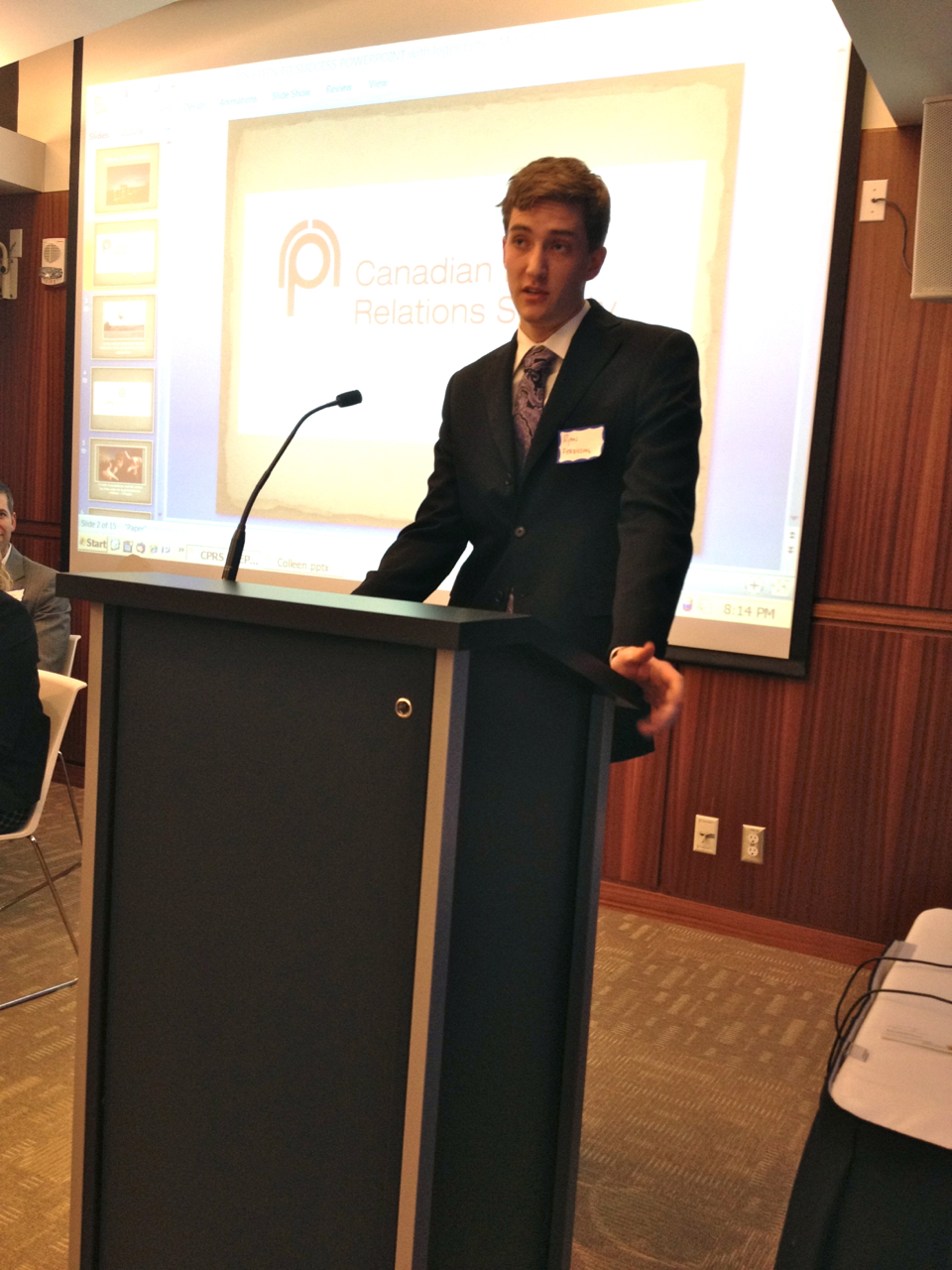 Ryan Ferguson is the first-ever winner of CPRS' Legacy Award, which recognizes one outstanding PR student a year.