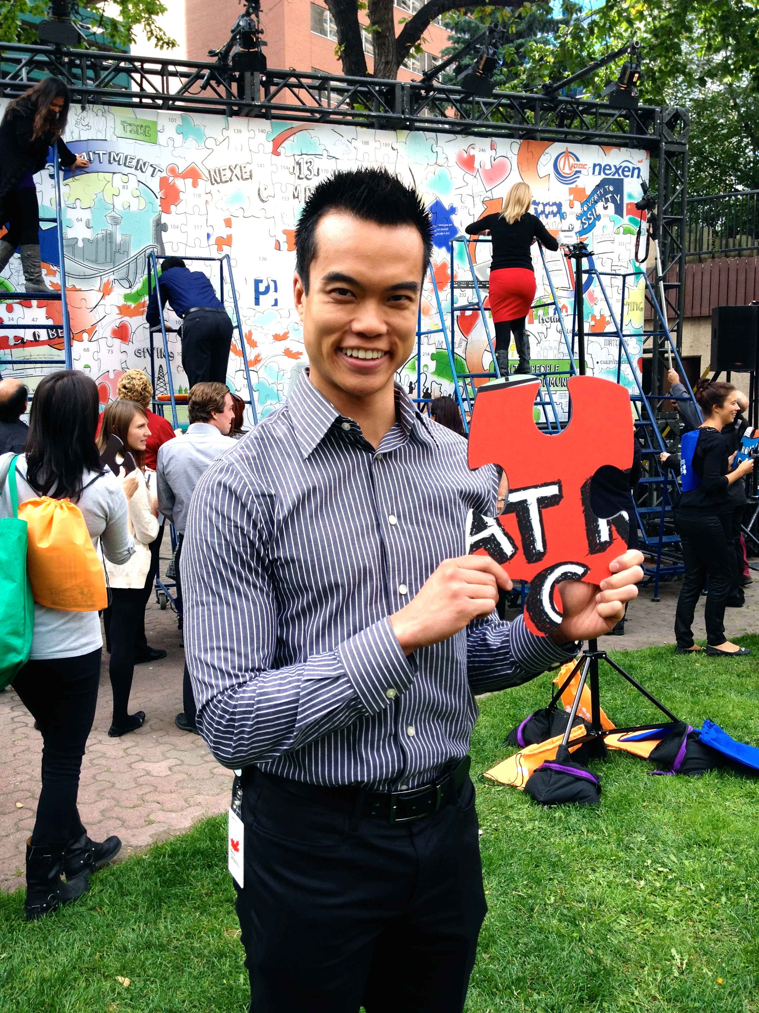 """I had a blast participating in my company's annual United Way campaign. This year, our campaign was titled """"Piece by Piece"""" because we're all pieces of the puzzle :)"""