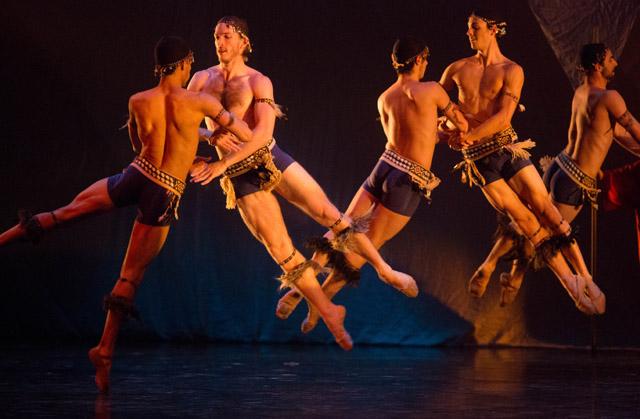 Alberta Ballet male dance ensemble