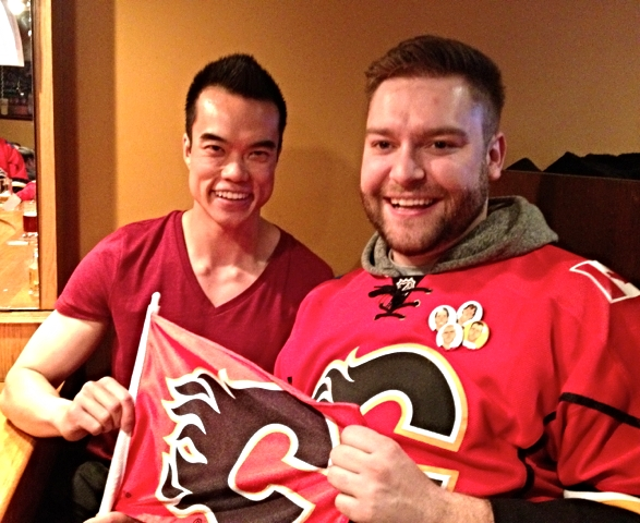 My friend Blaine (right) and I were excited to cheer on the Calgary Flames this past Saturday!