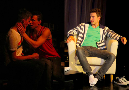 Nigel and Jamie's relationship is complicated further with the arrival of Mark, played by Michael Lyons (on the right of the left photo; Right photo).