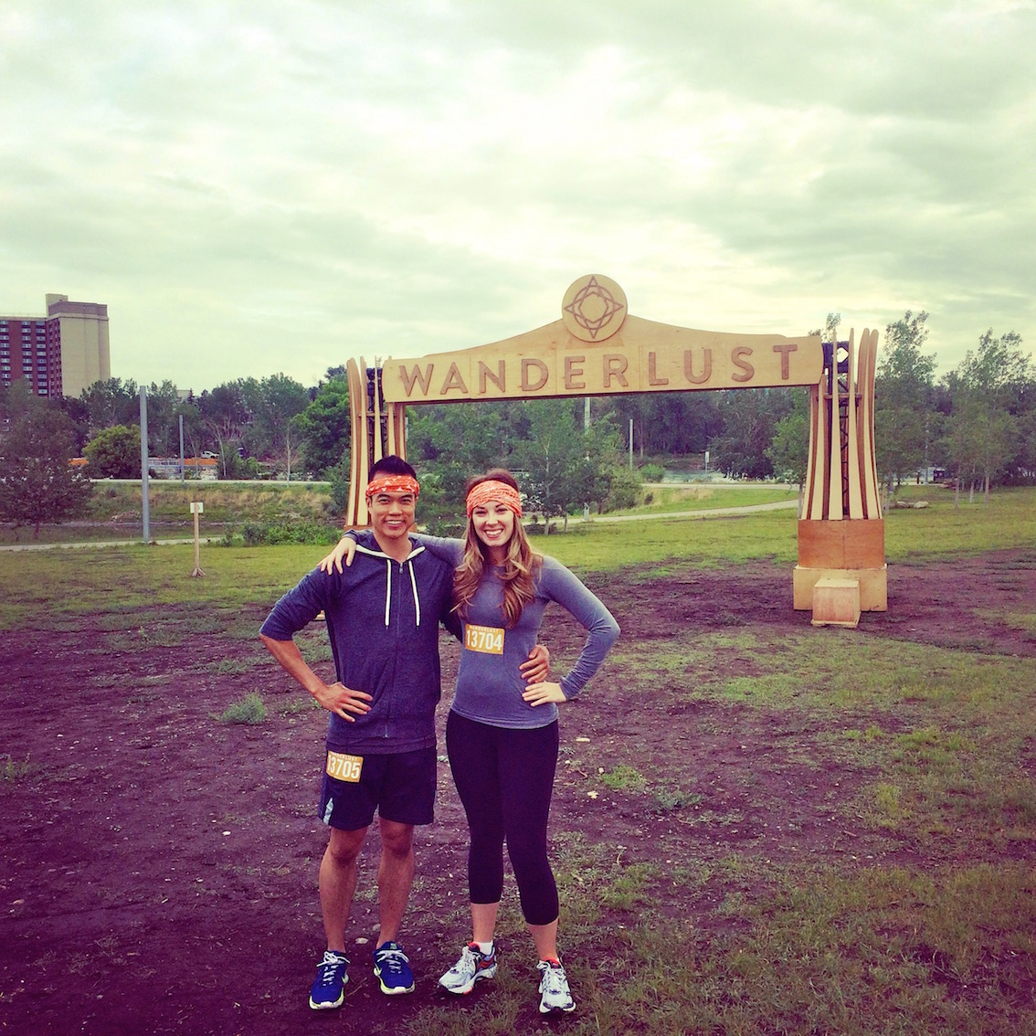 My summer started off with participating in Wanderlust 108, which combined a 5k run with yoga and meditation. Me and my friend Erin are seen here gearing up for the start of the event, held in June at Fort Calgary.