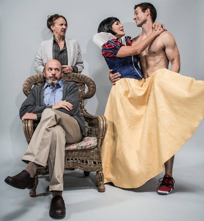 """The cast of Alberta Theatre Projects' production of """"Vanya and Sonia and Masha and Spike. Photo Credit: Kenneth Locke"""