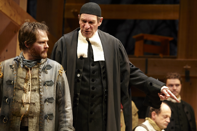 Karl H. Sine (left) delivers the performance of a lifetime in the role of John Proctor. Photo courtesy of Trudie Lee.