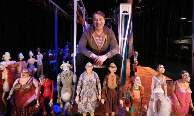 Ronnie Burkett and has cast of outrageous puppets. Photo credit: Gavin Young, Calgary Herald.