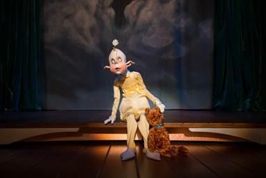 The innocent, fairy child puppet, Schnitzel.