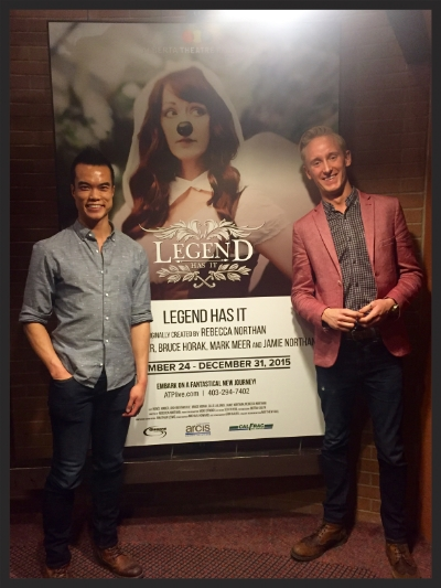 Me and my friend Clint had a great time at the opening of  Legend Has It .